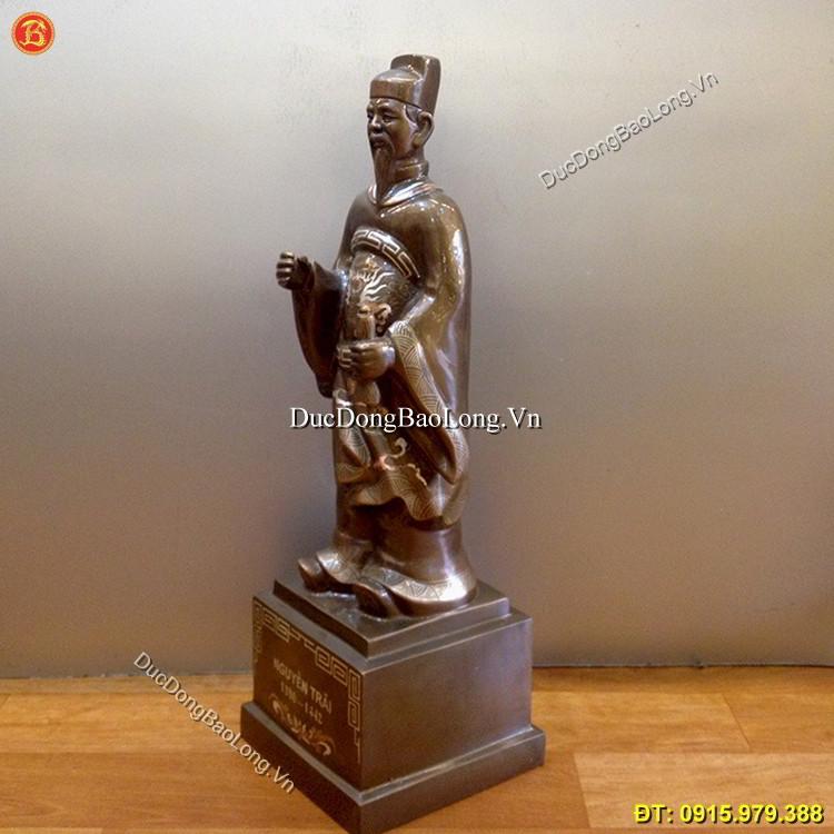 Tượng Đồng Nguyễn Trãi Khảm Tam Khí 50cm