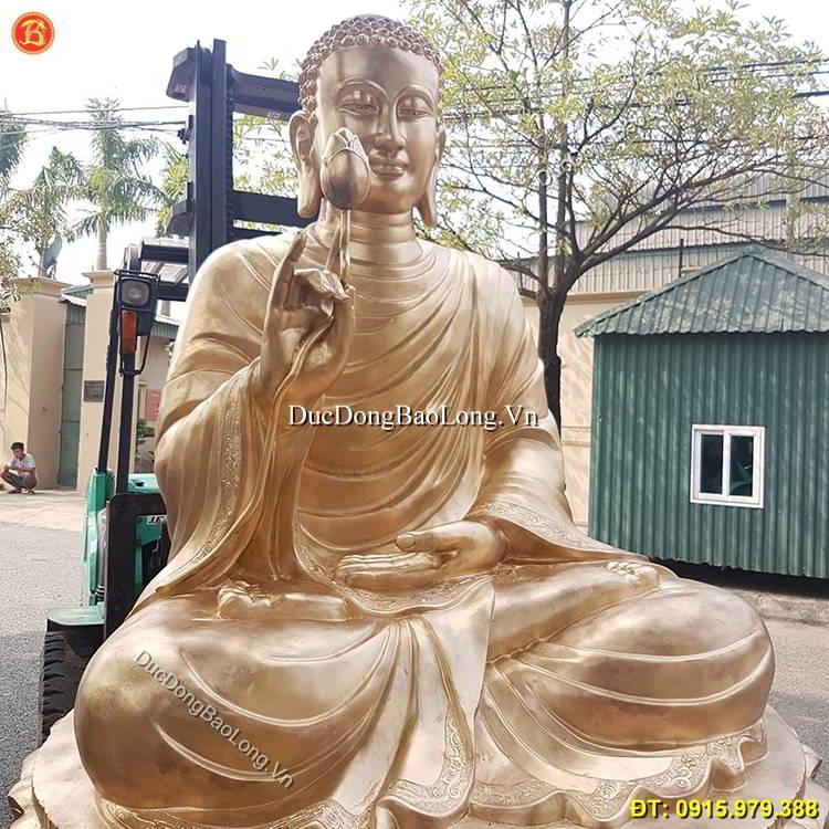Đúc Tượng Phật Thích Ca Liên Hoa Cao 2m5