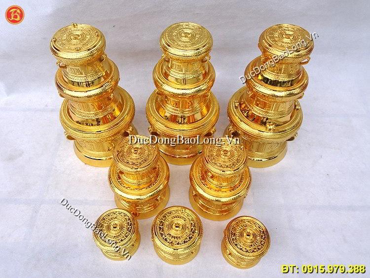 Trống Đồng Quà Tặng Mạ Vàng 24k Các Kích Cỡ