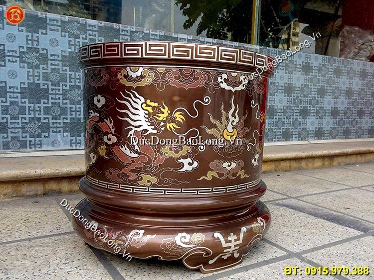 Bát Hương Khảm Ngũ Sắc 37cm Thờ Cúng