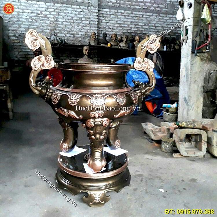 Lư Hương Đồng Đình Chùa Cao 1m07