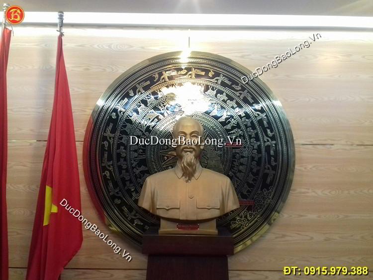 Mặt Trống Đồng Bản Đồ Việt Nam ĐK 1m7
