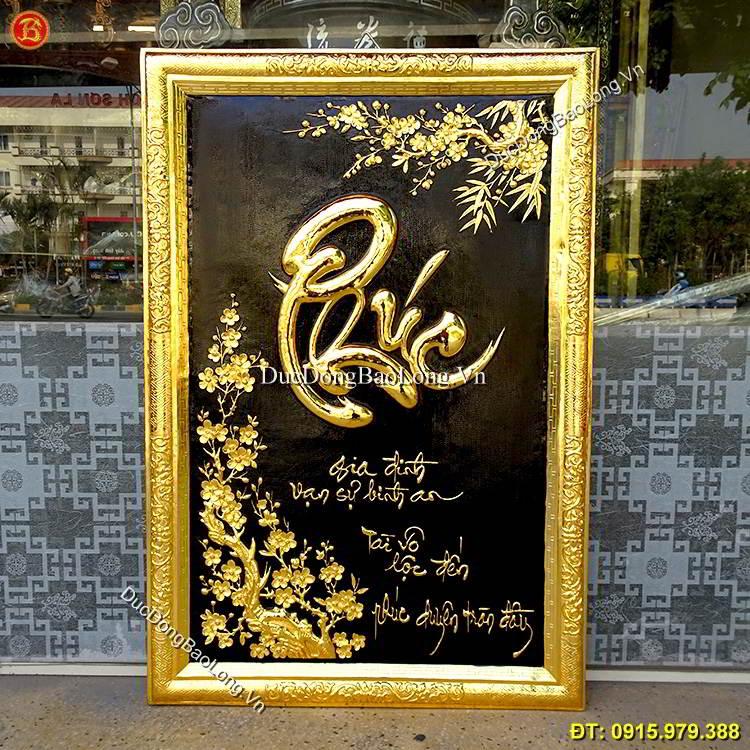 Tranh Chữ Phúc Mạ Vàng 24k 88cm x 55cm