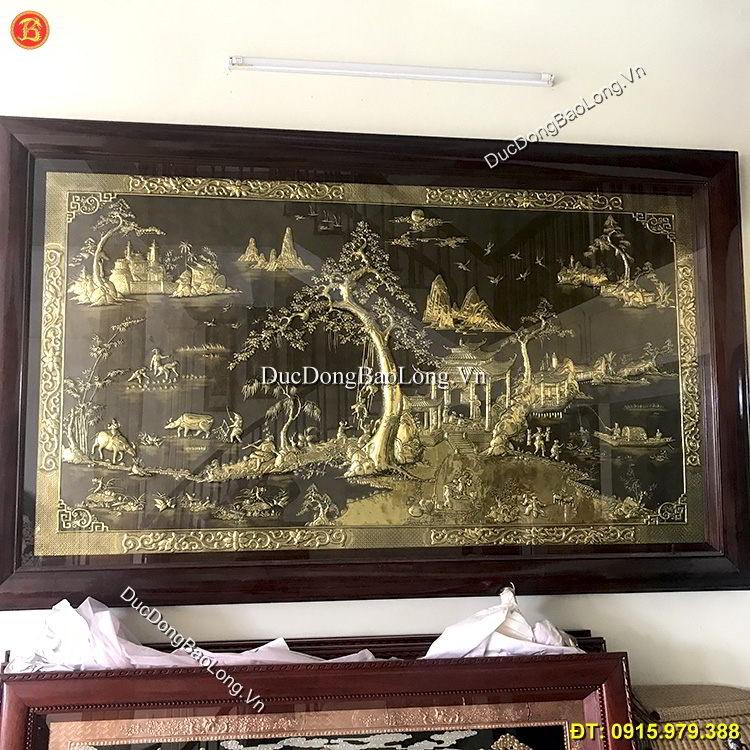 Tranh Đồng Quê Bằng Đồng Dài 3m23