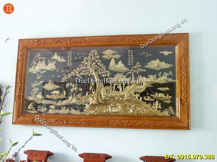 Tranh Đồng Đồng Quê Dài 2m3 Khách Thái Bình