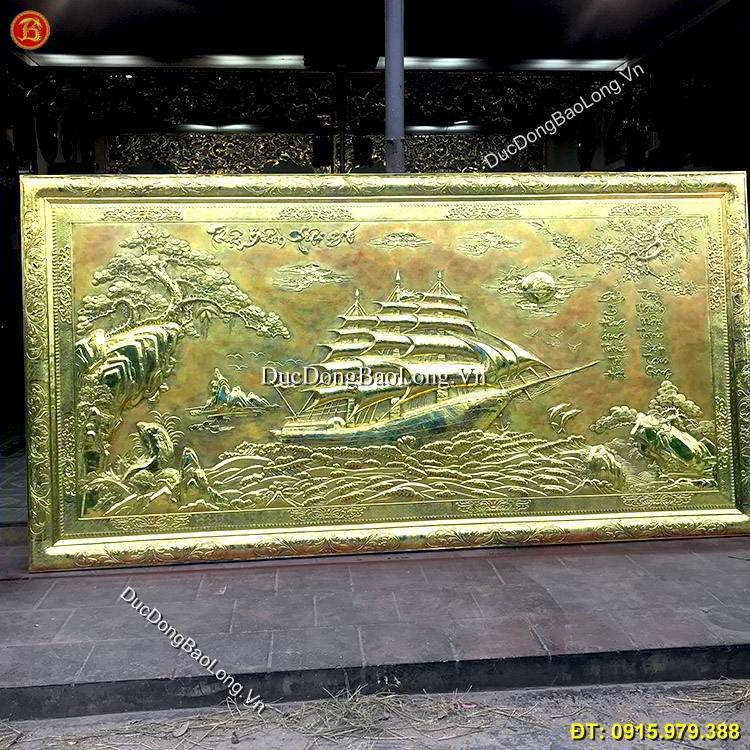 Tranh Thuận Buồm Xuôi Gió Khung Đồng 3m4