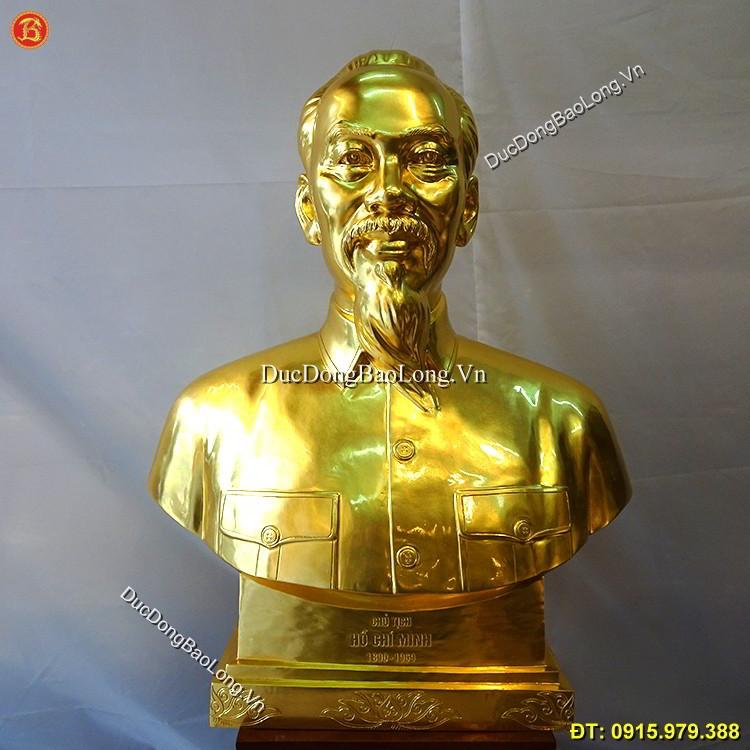 Tượng Bác Hồ Dát Vàng 89cm Mẫu Đẹp
