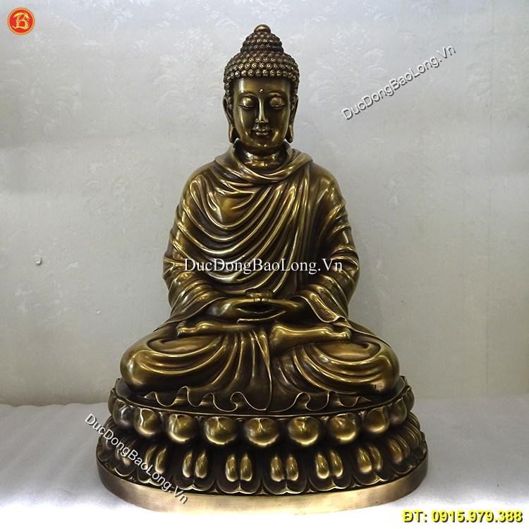 Tượng Đức Phật Thích Ca Bằng Đồng Cao 50cm