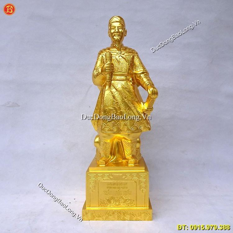 Tượng Trần Hưng Đạo Dát Vàng 69cm Mẫu Đẹp