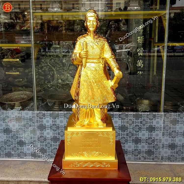 Tượng Đồng Trần Hưng Đạo Dát Vàng 89cm