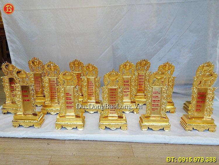 Bài Vị Mạ Vàng Thờ Cúng Gia Tiên cao 32cm