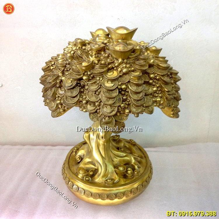 Cây Tiền Tài Lộc Đồng Vàng Cao 40cm