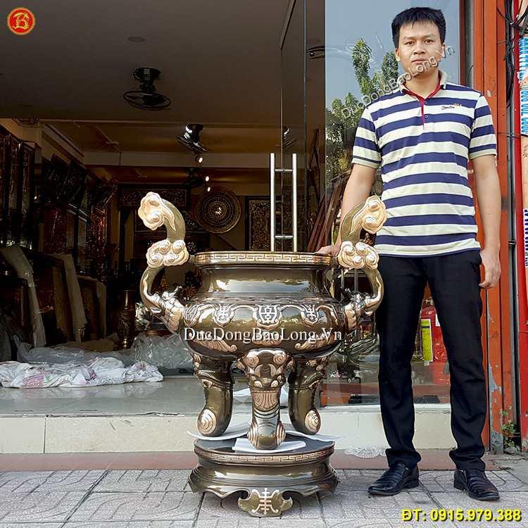 Lư Hương Bằng Đồng Cao 110cm Đặt Ở Phú Quốc