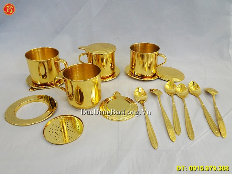 Phin Cafe Mạ Vàng 24k Cao Cấp Hàng Đặt