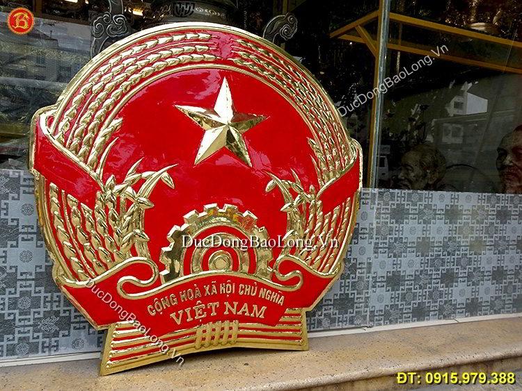 Quốc Huy Việt Nam Bằng Đồng Cao 90cm