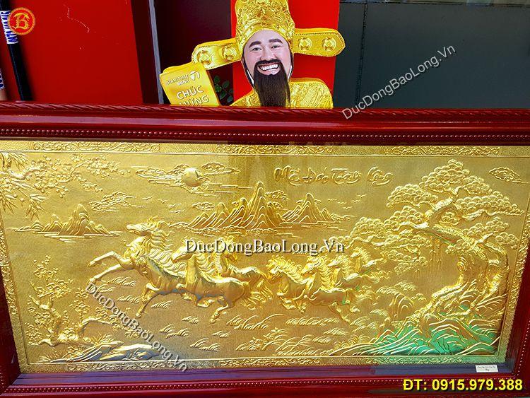 Tranh Bát Mã Mạ Vàng 24k Dài 1m97