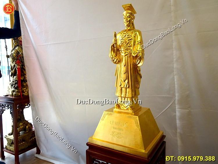 Tượng Đồng Lý Thái Tổ Dát Vàng Cao 89cm