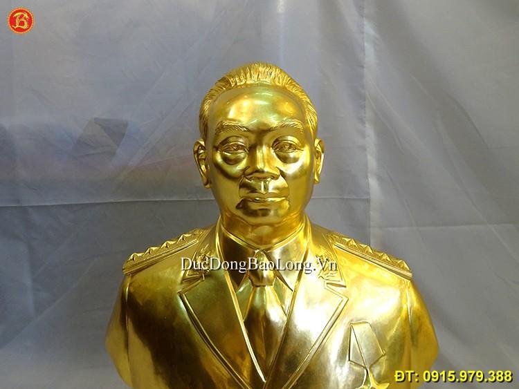 Tượng Đại Tướng Võ Nguyên Giáp Dát Vàng 61cm