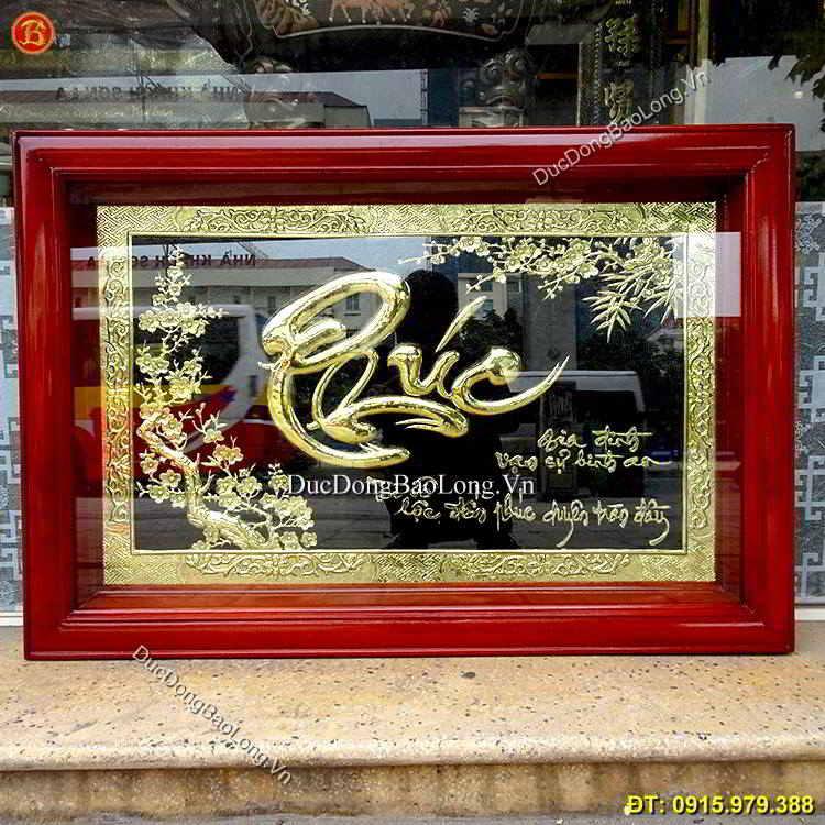 Chữ Phúc Thư Pháp Bằng Đồng 81cm x 55cm