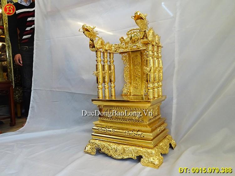 Ngai Thờ Gia Tiên Mạ Vàng 24k Cao 81cm