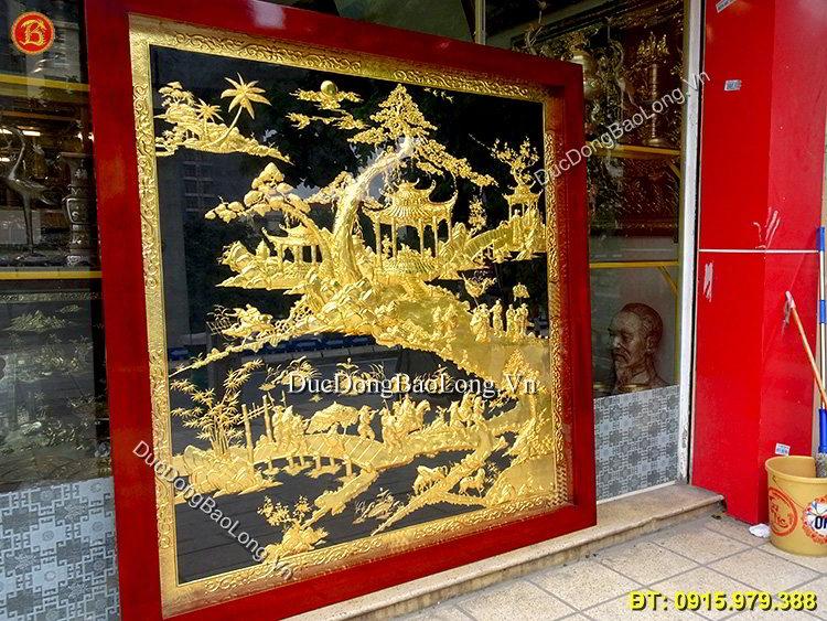 Tranh Vinh Quy Bái Tổ Mạ Vàng 24k Cao 1m87