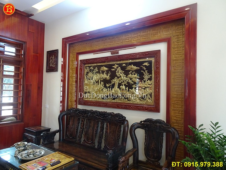 Tranh Vinh Quy Bái Tổ Khách Phú Thọ Dài 1m97