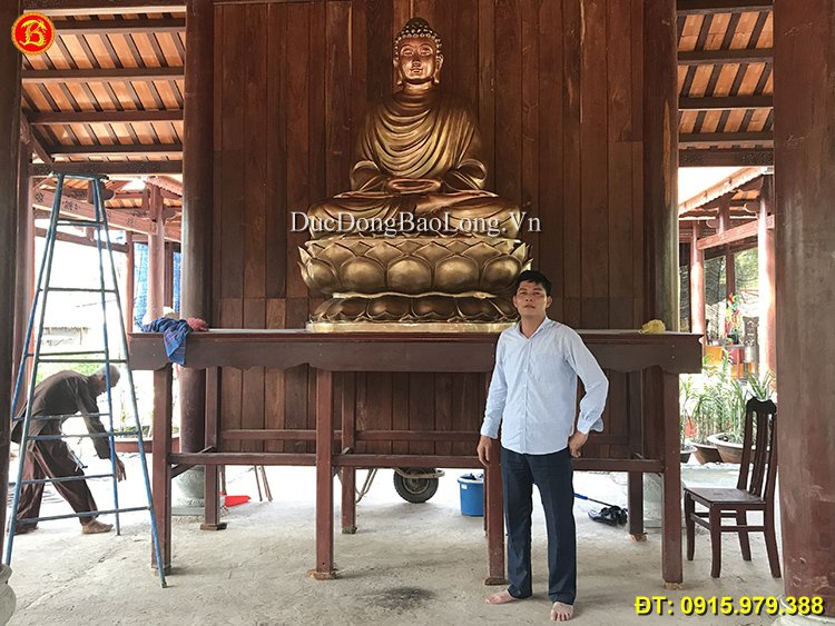 Tượng Phật Thích Ca 2m17 Đúc Bằng Đồng Đỏ