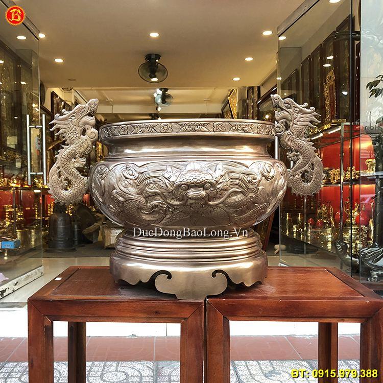 Lư Đồng Thờ Cúng Tai Rồng ĐK 39cm