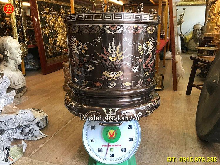 Bát Hương Đồng Ngũ Sắc Cung Tiến Đk 47,5cm