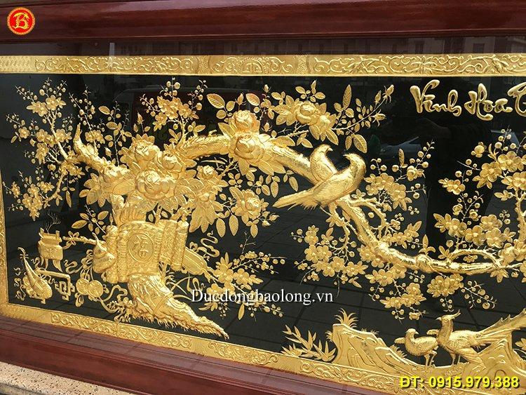 Tranh Vinh Hoa Phú Quý Mạ Vàng Dài 2m31