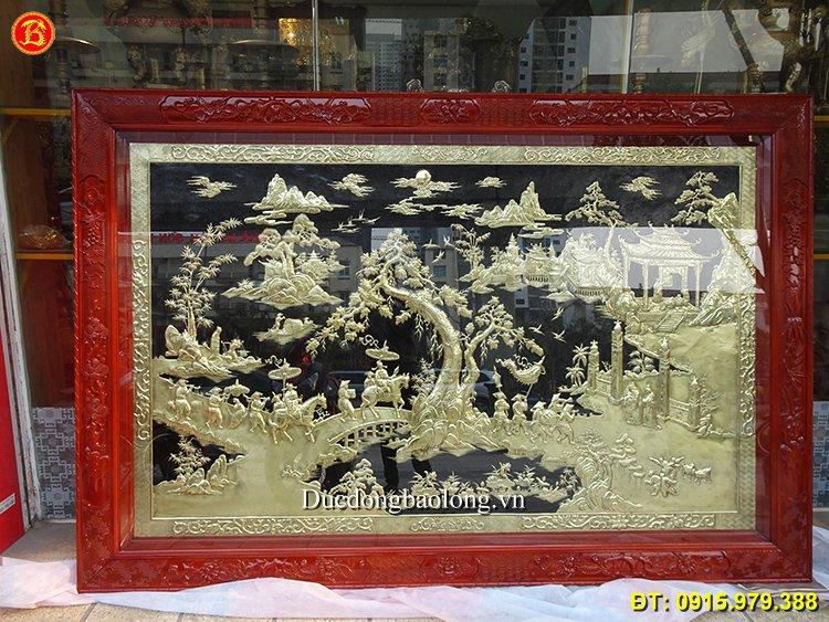 Tranh Vinh Quy Bái Tổ Khách Quảng Ninh Dài 2m62