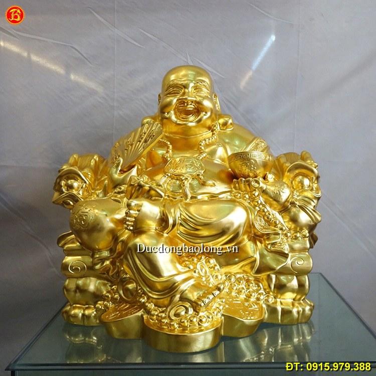 Tượng Phật Di Lặc Dát Vàng 9999