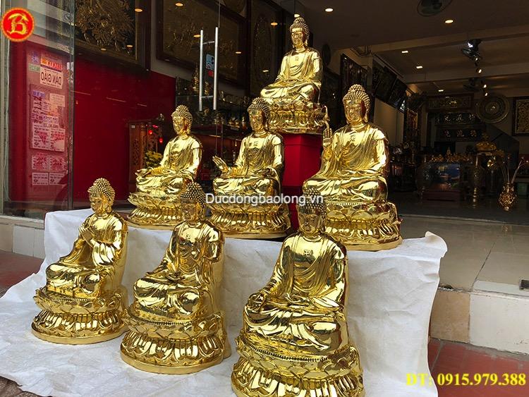 Tượng Phật Dược Sư Bằng Đồng Cao 48cm
