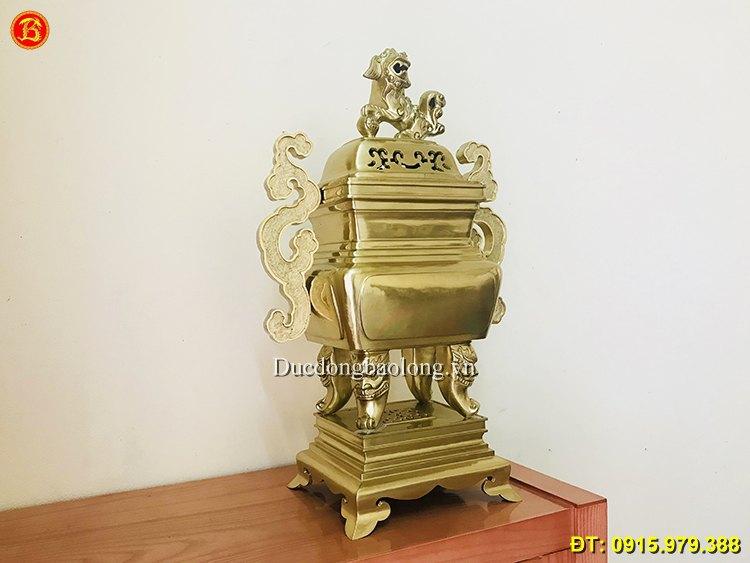 Đỉnh Đồng Vuông Mẫu Cổ thờ cúng cao 60cm