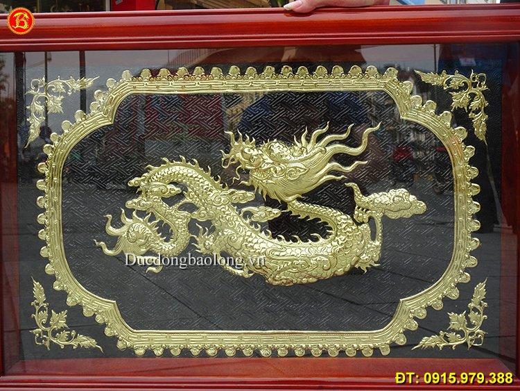 Tranh Đồng Chữ Tâm Hoá Rồng 81cm x 55cm
