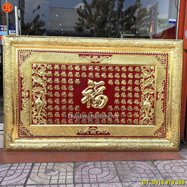 Tranh 100 Chữ Phúc Bằng Đồng Dài 1m97