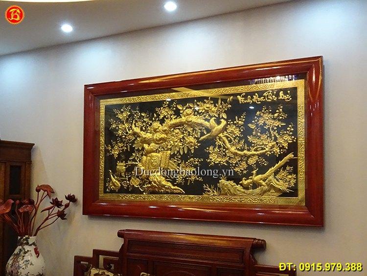 Tranh Đồng Mạ Vàng 24k Vinh Hoa Phú Quý