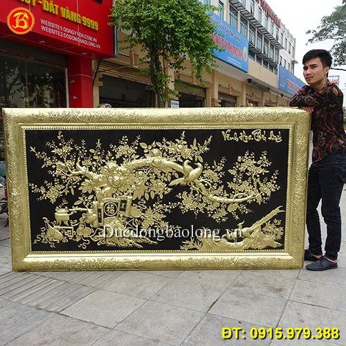Tranh Vinh Hoa Phú Quý Đẹp Khung Đồng 2m31