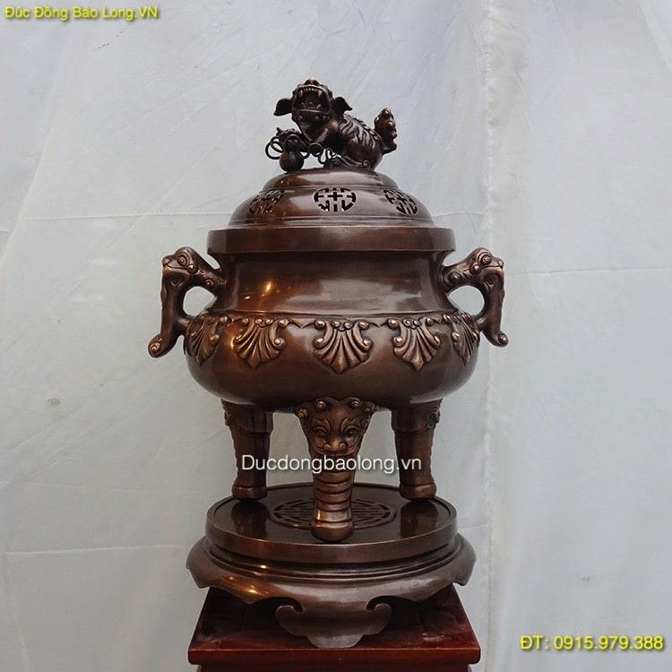 Đỉnh Đồng Thập Sòi thờ cúng gia tiên 62cm