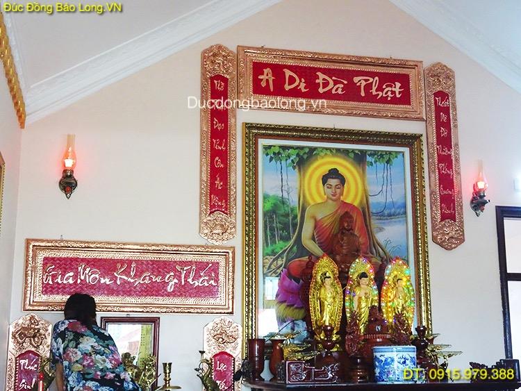 Hoành Phi Câu Đối Thờ Phật bằng đồng 1m55