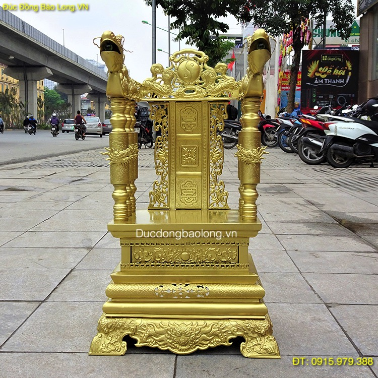 Ngai Thờ Đẹp Bằng Đồng cao 68cm hàng đặt khách Hà Nội