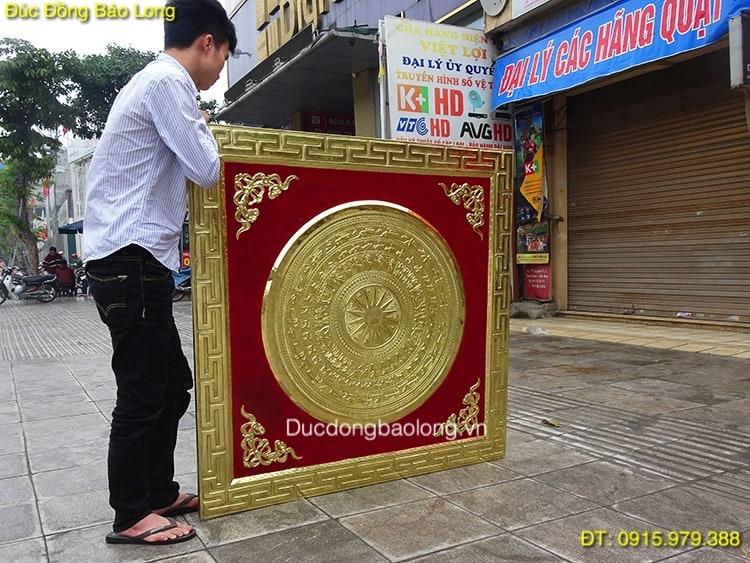 Tranh Mặt Trống Trang Trí 1m27 hàng đặt khách Quảng Ninh