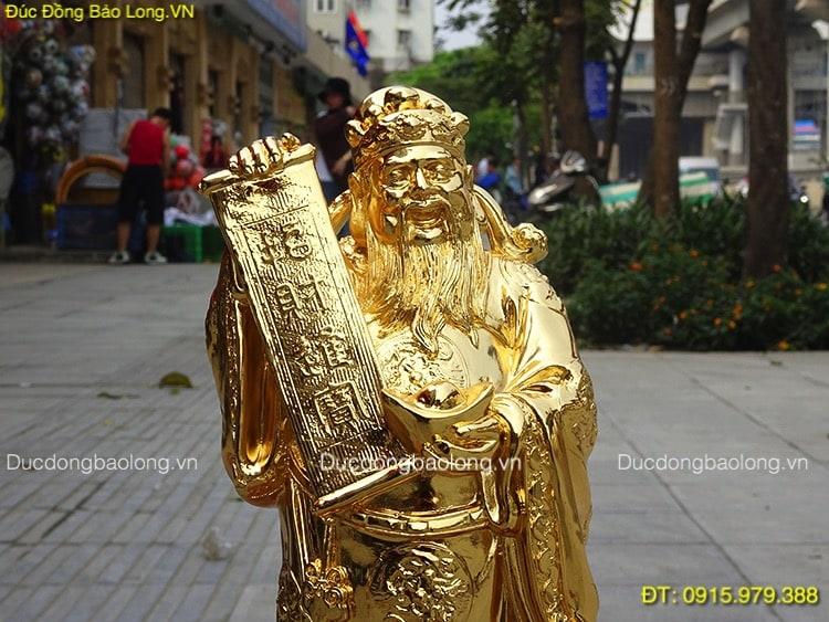 Tượng Thần Tài Bằng Đồng mạ vàng cao 32cm