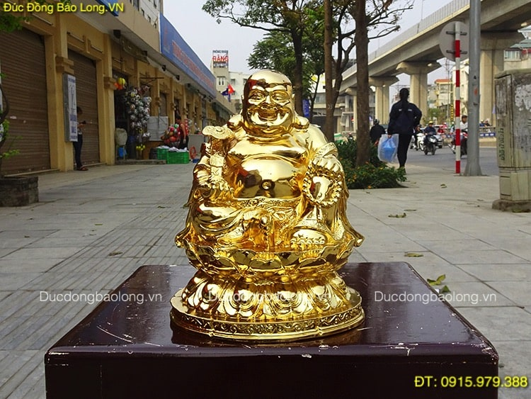 Tượng Di Lặc Cỡ Nhỏ mạ vàng 24k cao 24cm