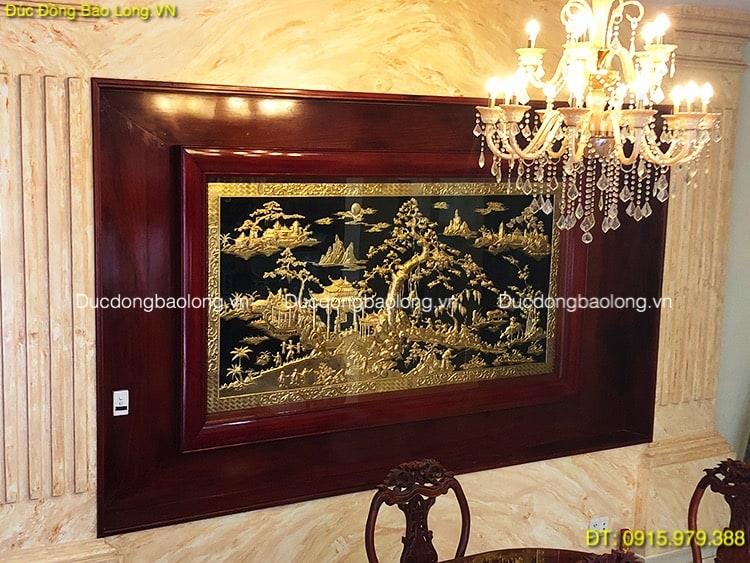 Tranh Đồng Quê Bằng Đồng Mạ Vàng dài 2m62