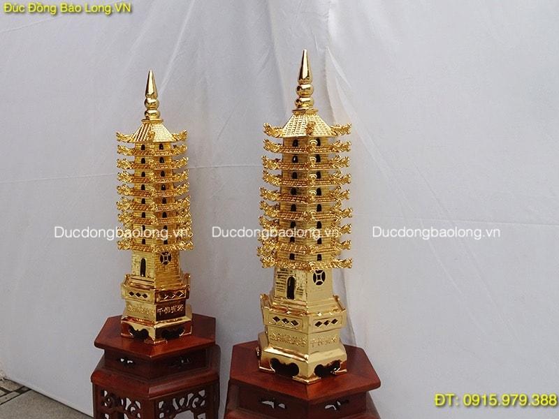 Tháp Văn Xương 9 Tầng mạ vàng cao 63cm
