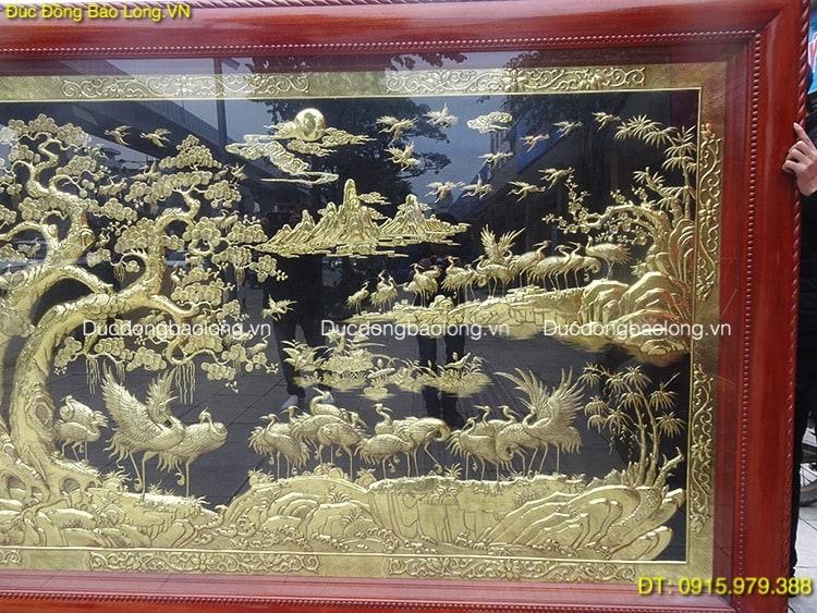 Tranh 100 Con Hạc Bằng Đồng dài 3m23