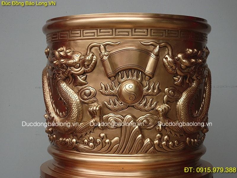 Bát Hương Đúc Rồng Nổi thờ cúng gia tiên 36cm (mẫu mới)