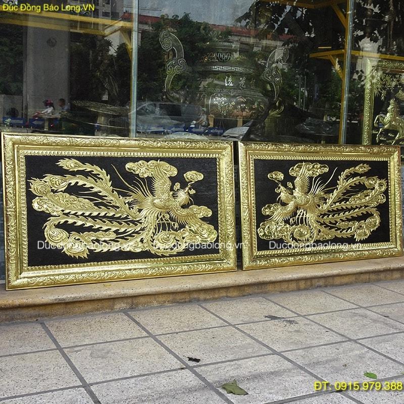 Đôi Tranh Công Bằng Đồng dài 1m hàng cao cấp