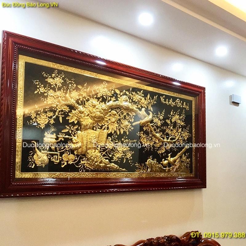 Tranh treo Phòng Khách Hiện Đại mạ vàng 24k